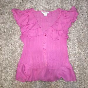 Pink Allison Taylor flowy blouse SIZE L